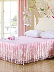 Yuxin®Printing Korean Princess Lace Bedspread Bed Skirt Mattress Dust Protection Cover  Bedding Set