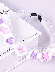 Flower Girl Organza/Plastic Headbands With Wedding/Party Headpiece