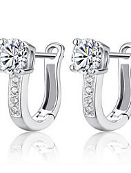 kiki tipo 925 Orecchini di diamanti argento u stelle