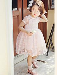 Vestido Chica de - Verano - Raso/Algodón - Manga Corta