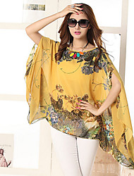 Women's Casual Micro Elastic Sleeveless Regular Blouse (Chiffon)