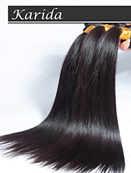 12-30 inch Can be Dyed Cheap 100% Virgin Brazilian Hair Natural Color Straight Hair