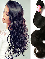 "3 Pcs/Lot 8""-34"" Malaysian Unprocessed Virgin Hair Natural Black Color Body Wave Hair Weft. Free Tangle Free Shipping!"