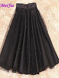 WeiMeiJia® Women's Casual Micro-elastic Thin Midi Skirts (Organza)