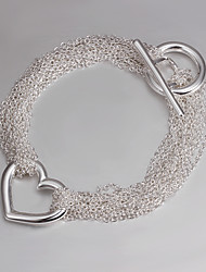 Italy 925 Silver Fashion Heart Design Bracelet Bracelets And Bangles 2015 New Products