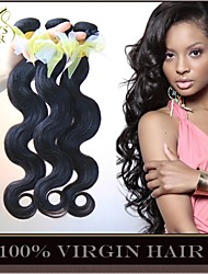 "3 Pcs Lot 8""-30"" Unprocessed 6A Malaysian Virgin Hair Body Wave Natural Black Remy Human Hair Weave Bundles Soft & Thick"