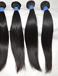 """4 PC / porción 10 """"-28"""" pelo brasileño extensiones de cabello natural rectas calientes de las ventas reales de la onda del cuerpo del pelo"""