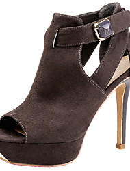 SEXYHER Womens 4.5 In High Heel Platform In Four Colors Wedding Party Sandal Shoes LIGHT BROWN