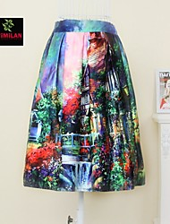 YIMILAN® Women's The 2015 European Fashion Print Skirt