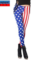 cmfc ®women mager amerikan flagga utskrifts damasker Bodycon sexiga sport byxor Kvinna casual yoga byxor