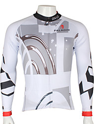 Men's Paladinsport Fast & Furious Quick Dry Anti-sweat Long Sleeve Cycling Jersey Top - White