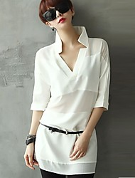 Women's Casual ½ Length Sleeve  Chiffon  Tops & Blouses