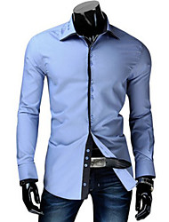 playgame Men's Casual Shirt Collar Long Sleeve Shirts