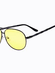 Cycling Men's 100% UV400 Polarized Alloy Aviator Sports Night Vision Goggles Glasses