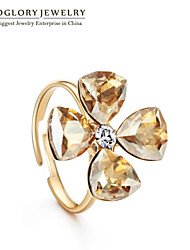 Neoglory Women's Rose Gold Plated Ring With Crystal