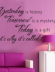 Wall Stickers Wall Decals, Style Yesterday is History English Words & Quotes PVC Wall Stickers