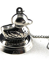 Duck Stainless Steel Tea Infuser Strainer Mesh Filter Locking Spice Ball 10x5.1x4.5cm