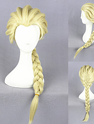 50cm Frozen-Elsa Light Yellow Synthetic Anime Cosplay Wigs