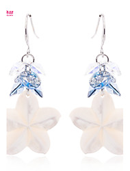 Lady's Neoglory Jewelry Drop Dangle Earring with High Sparkly Multi-Color Crystal and Natural Shell(More Color)