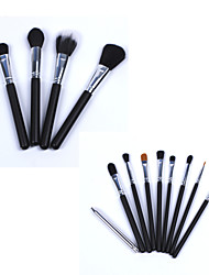New 15Pcs Black Professional Makeup Brush Set  Fundation Powder Eyeshadow Eyeliner Makeup Brush Kits