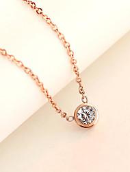 Damen Anhängerketten Edelstahl Titanstahl vergoldet Imitation Diamant Modisch Silber Rose Golden Schmuck Alltag Normal
