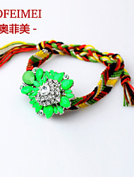Colorful handmade trinkets braided rope bracelet jewels