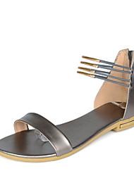 Sandales/Ballerines ( Multi-couleur Confort/Escarpin-sandale/Spartiates/Bout rond - Talon plat - Cuir - pour FEMMES