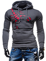 Happyboy  factory direct supply 2015 new men's hooded sweater coat sleeve head of male scorpion printing