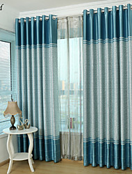 (One Panel)Lake Blue Thick Room Darking Curtain