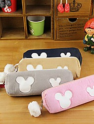 Cute Cartoon Micky Mouse Cotton Pencil Bag (Random Color)