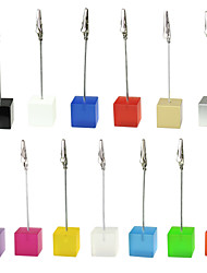 Place Cards and Holders Color Cube Stand Alligator Wire Place Card Holder Photo Memo Clip