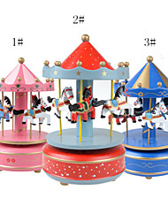 Plating Color Wooden Music Box Musical Box for Gteative Gift