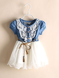 Kid's Casual/Cute/Party Dresses (Chiffon/Cotton)