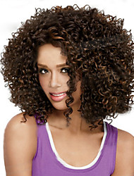 European and American  Fashion  Short Curly Black Wig Explosion