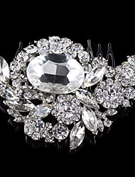 Vintage Wedding Party Bridal Bridesmaid Round Diamond Crystal Hair Comb For Women Laides