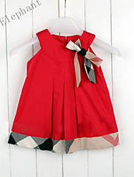 Big Elephant New Hot Summer Baby Clothes Kids Girls Dress Skirt Cute Vest Tops For Girl 0-4 Years R15