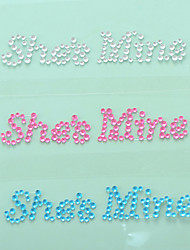 """She is Mine"" Crystal Acrylic Shoe Sticker (More Colors)"