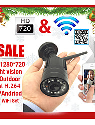 720P H.264 Wireless IP Camera email alarm  P2P ONVIF  IR-Cut Night Vision Motion Detection Waterproof