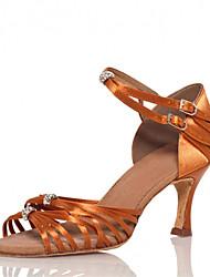 Женская обувь - Атлас - Номера Настраиваемый (Коричневый) - Латино