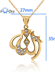 New Jewelry Accessories Charms and pendants Golden Allah Muslim Pendant