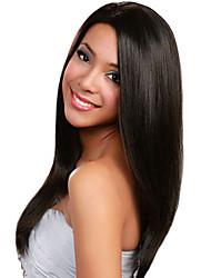 Women Brazilian Virgin Hair Color(Black) Straight Lace Front Wigs