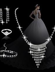 moda borla geométrica doce sets das mulheres: colar brincos pulseira e anel (venda julgamento; ações: 1)