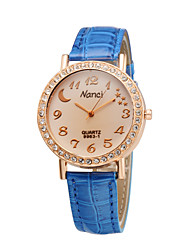 Fashion Ladies Creative Moon Star Crystal Diamond Rhinestone Watche Cool Watches Unique Watches