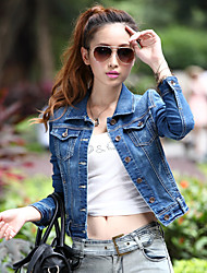 Women's Casual Denim Short Jacket