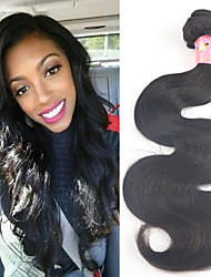 "3 pcs/lot 8""-34"" Peruvian Virgin Hair natural black color #1b body wave hair extension no tangle Free Shipping"