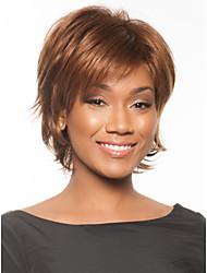 nouvelle capless de qualité à court ondulé mono top cheveux humains perruques six couleurs à choisir