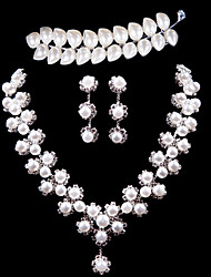 Ladies'/Women's Alloy Wedding/Party Jewelry Set With Imitation Pearl