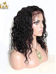 "8""-26"" Brazilian Virgin Hair Natural Wave Glueless Full Lace Wig Color Black With Baby Hair for Black Women"