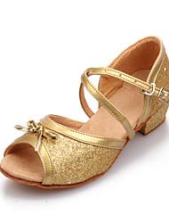 Non Customizable Women's / Kids' Dance Shoes Paillette Paillette Latin High Heels Chunky Heel Indoor / Practice / Beginner / Professional