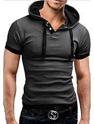 SGHYESS  Men's Casual Hoodie Short Sleeve T-Shirts